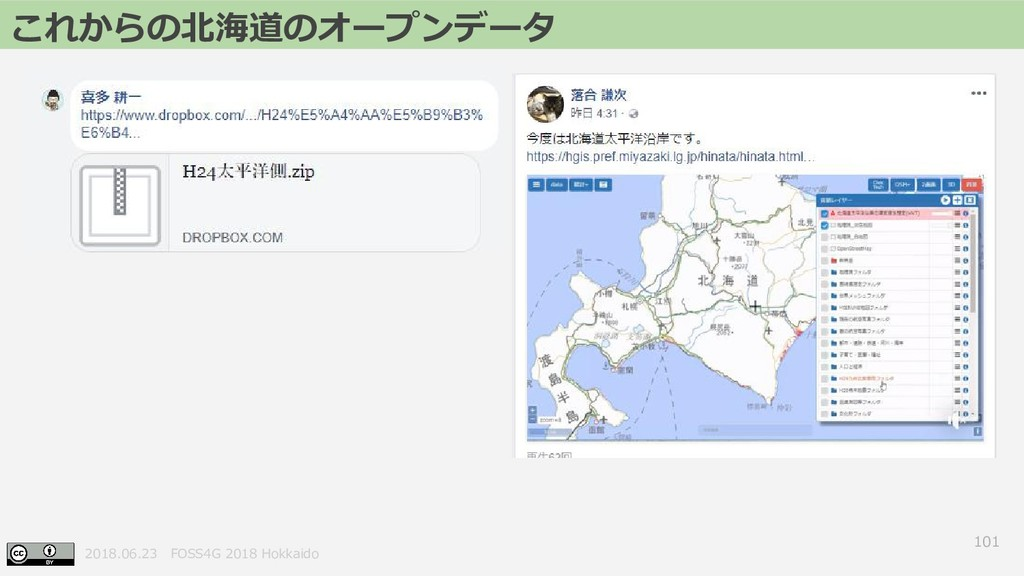 2018.06.23 FOSS4G 2018 Hokkaido 101 これからの北海道のオー...