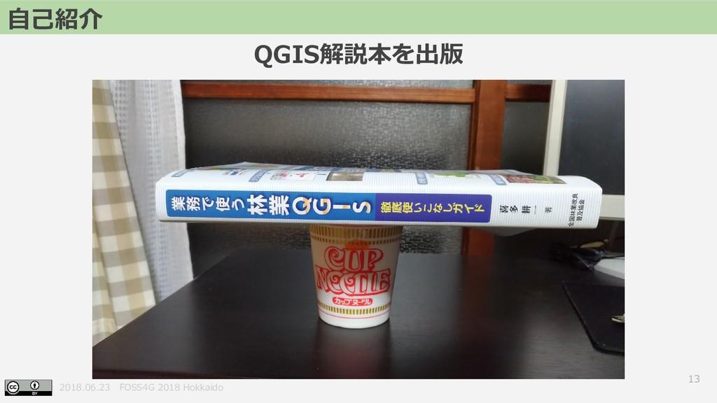 2018.06.23 FOSS4G 2018 Hokkaido QGIS解説本を出版 13 自...