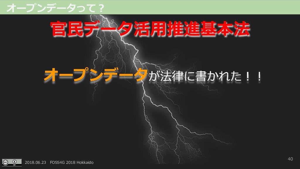 2018.06.23 FOSS4G 2018 Hokkaido 40 オープンデータって? オ...