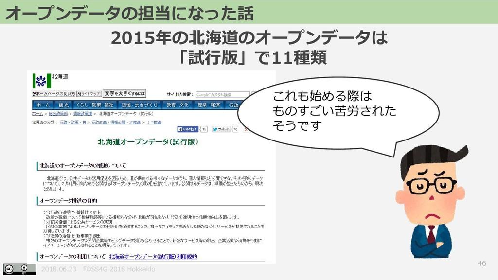 2018.06.23 FOSS4G 2018 Hokkaido 2015年の北海道のオープンデ...