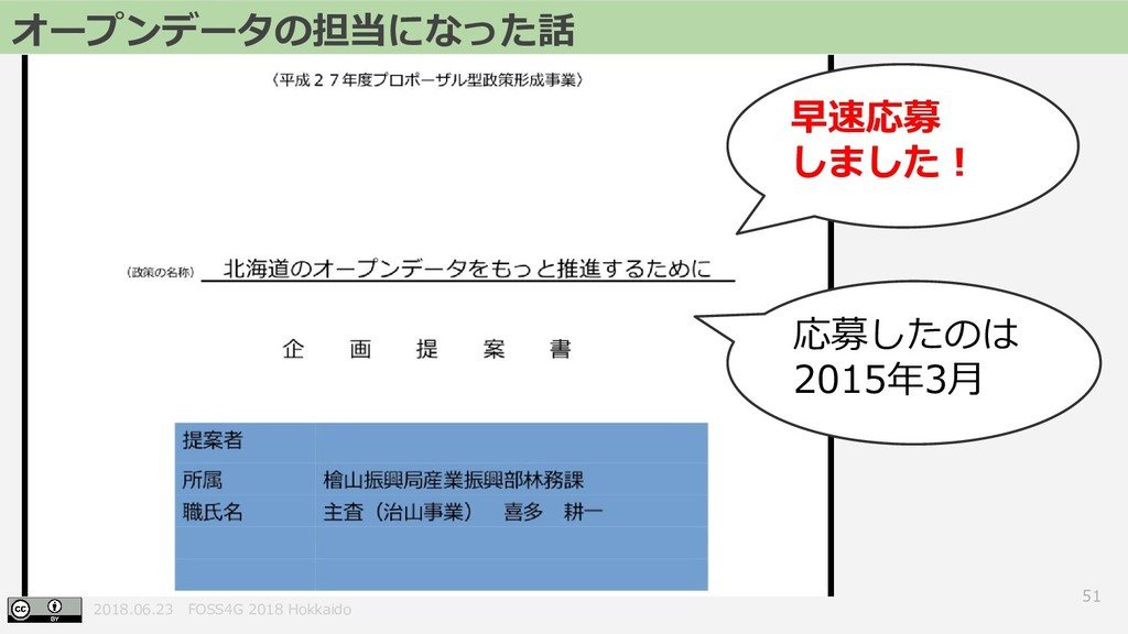 2018.06.23 FOSS4G 2018 Hokkaido 51 オープンデータの担当にな...