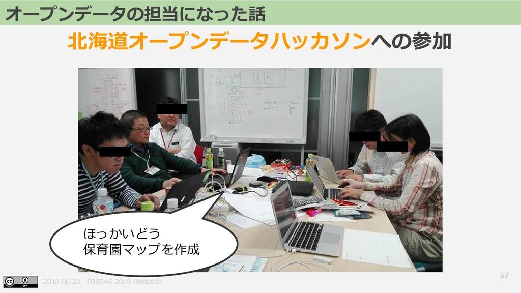 2018.06.23 FOSS4G 2018 Hokkaido 57 オープンデータの担当にな...
