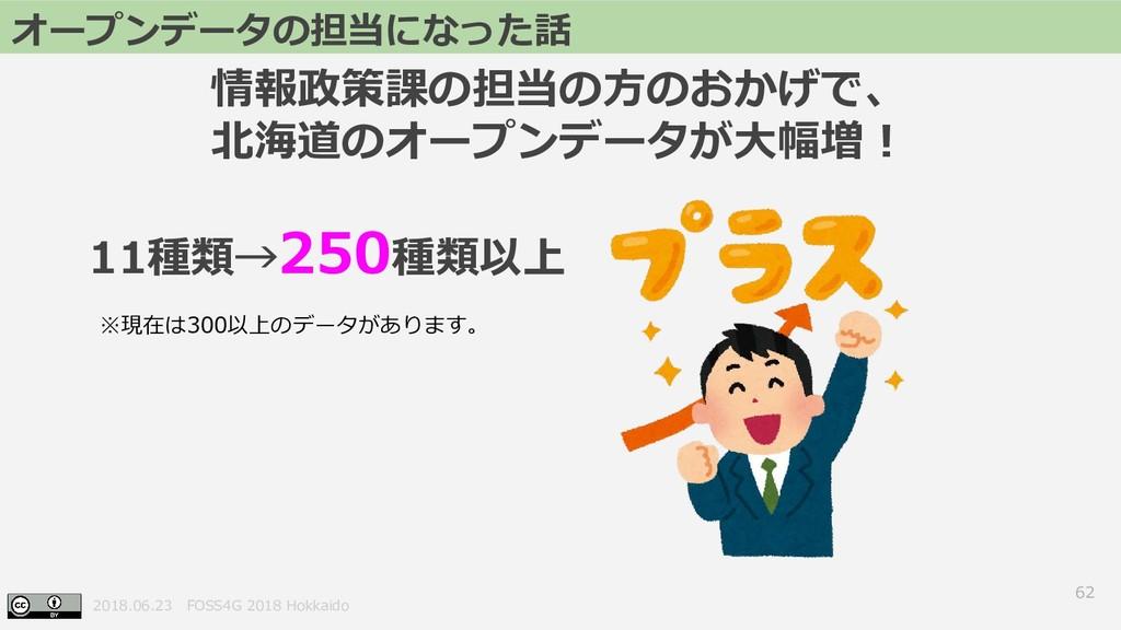 2018.06.23 FOSS4G 2018 Hokkaido 62 オープンデータの担当にな...