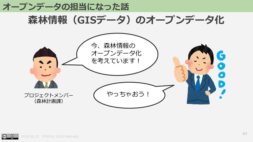 2018.06.23 FOSS4G 2018 Hokkaido 63 オープンデータの担当にな...