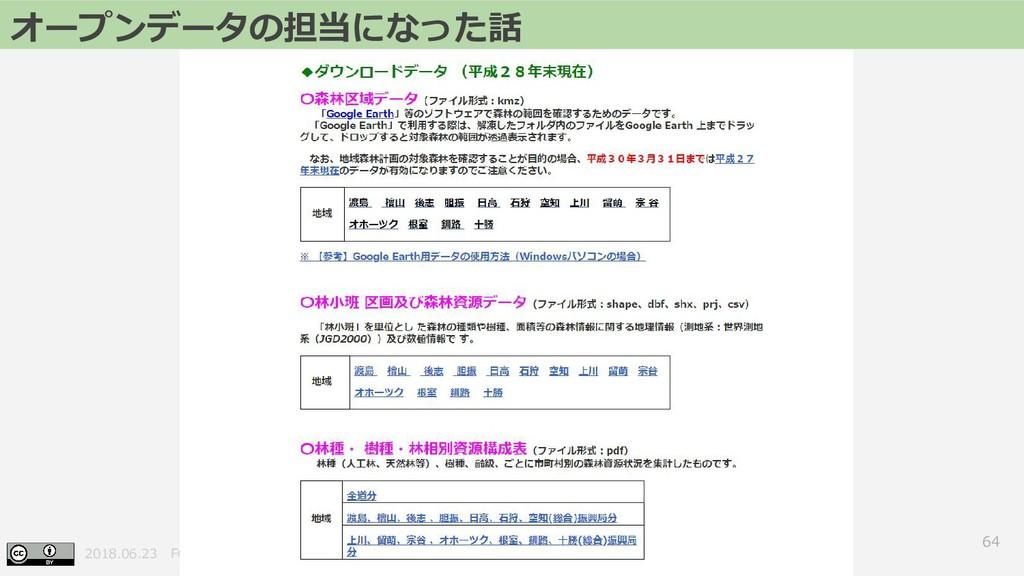 2018.06.23 FOSS4G 2018 Hokkaido 64 オープンデータの担当にな...