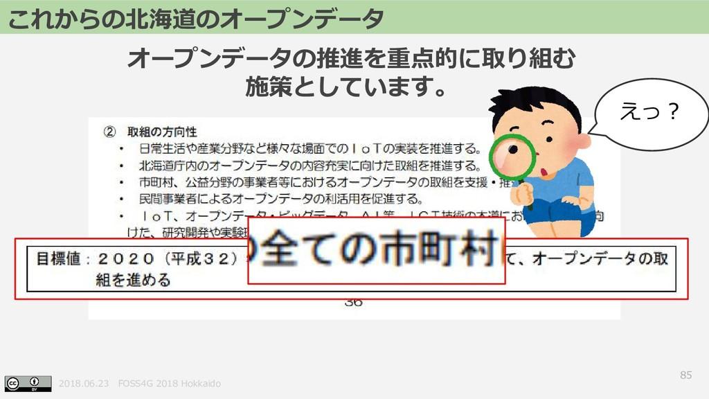 2018.06.23 FOSS4G 2018 Hokkaido 85 これからの北海道のオープ...