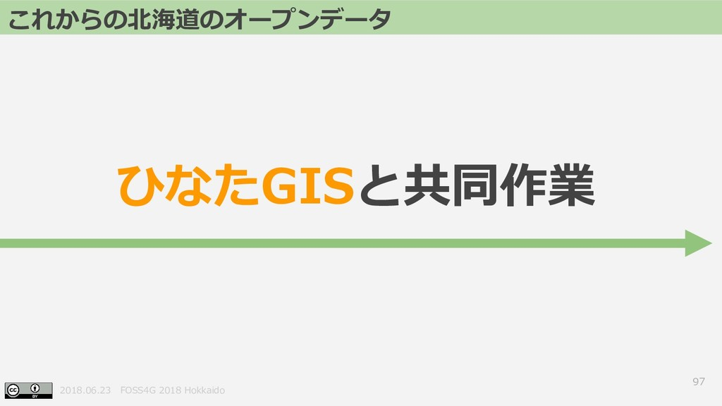 2018.06.23 FOSS4G 2018 Hokkaido 97 これからの北海道のオープ...