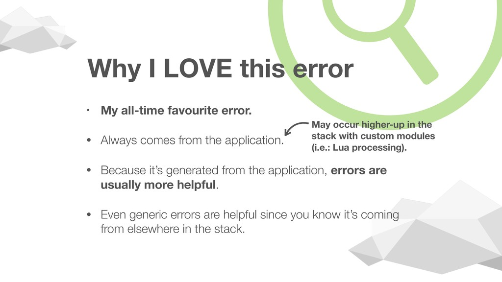 Why I LOVE this error • My all-time favourite e...