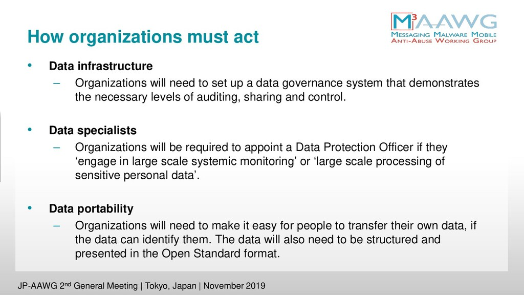 How organizations must act • Data infrastructur...