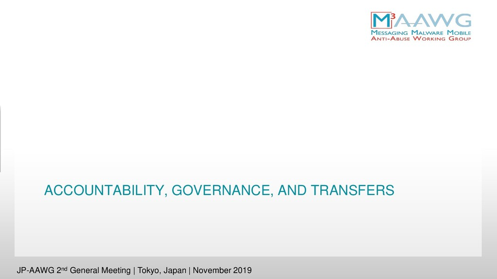 ACCOUNTABILITY, GOVERNANCE, AND TRANSFERS JP-AA...