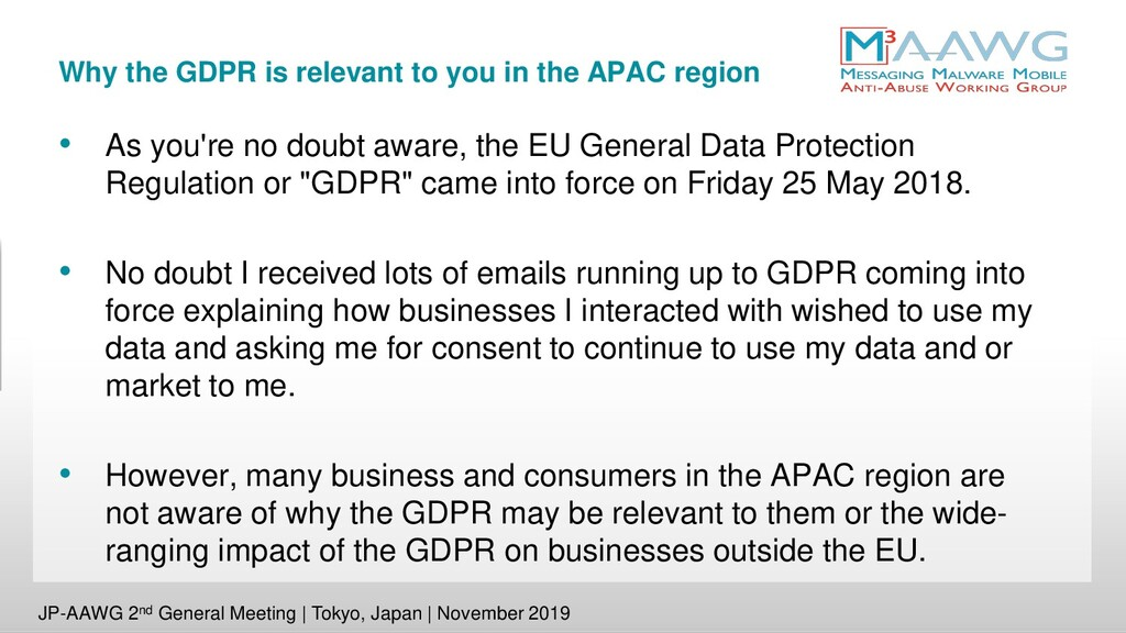 Why the GDPR is relevant to you in the APAC reg...