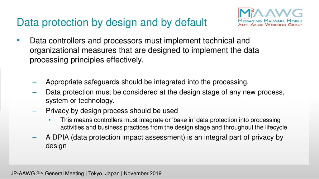 Data protection by design and by default • Data...