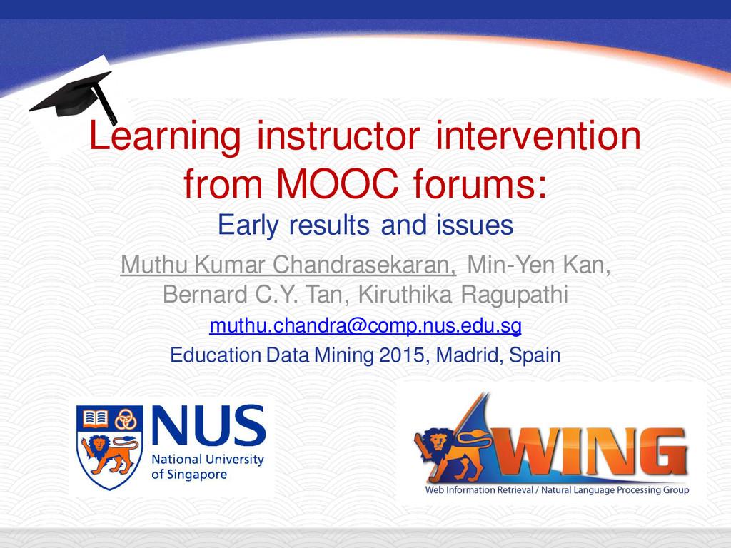 Muthu Kumar Chandrasekaran, Min-Yen Kan, Bernar...