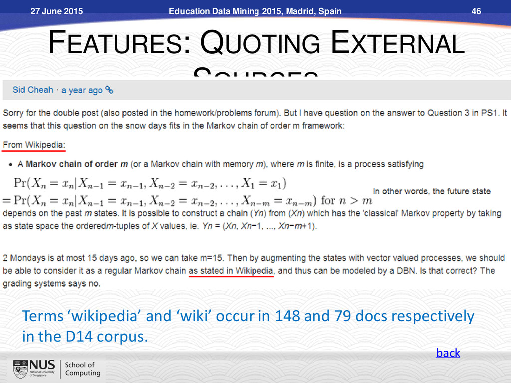 FEATURES: QUOTING EXTERNAL SOURCES Terms 'wikip...