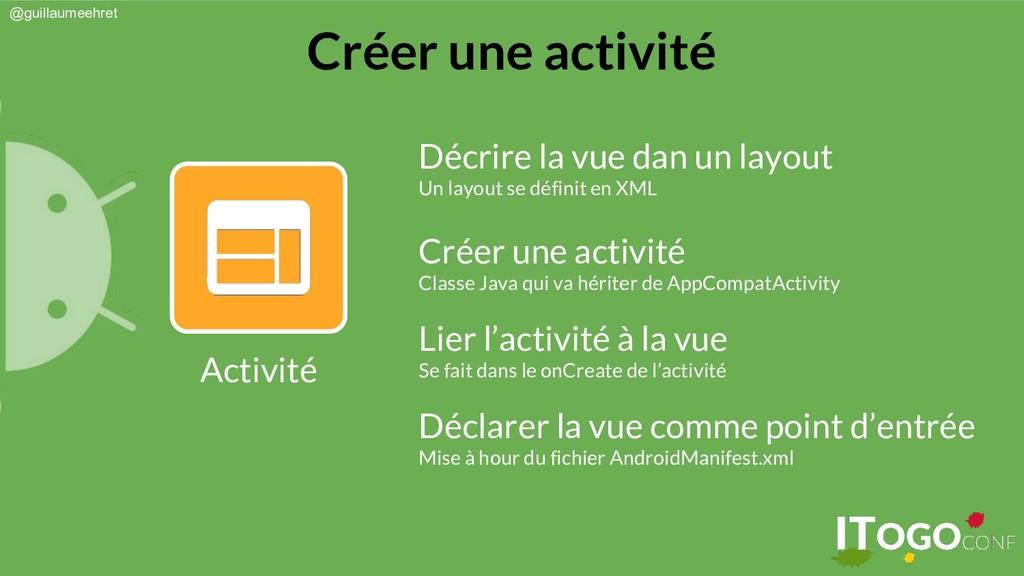 @guillaumeehret Créer une activité Activité Déc...