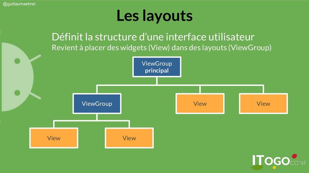 @guillaumeehret Les layouts Définit la structur...