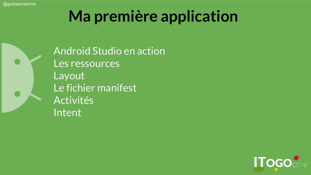 @guillaumeehret Android Studio en action Les re...