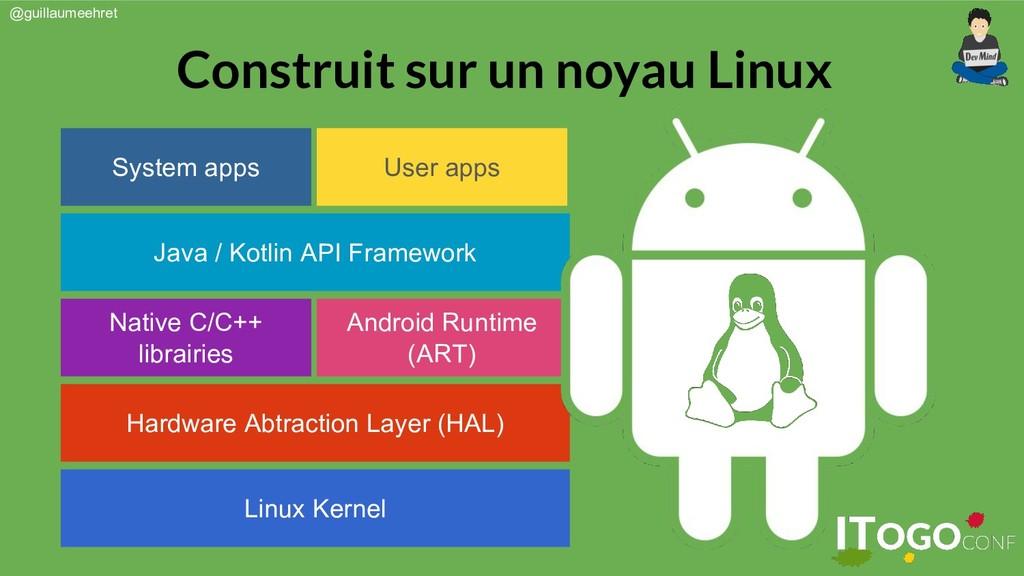 @guillaumeehret Construit sur un noyau Linux Li...