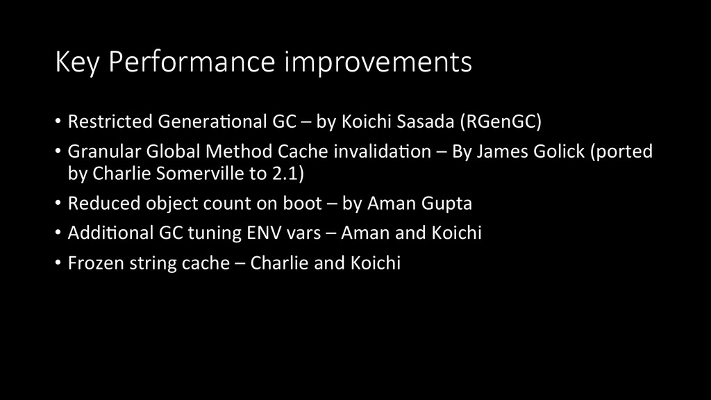 Key  Performance  improvements