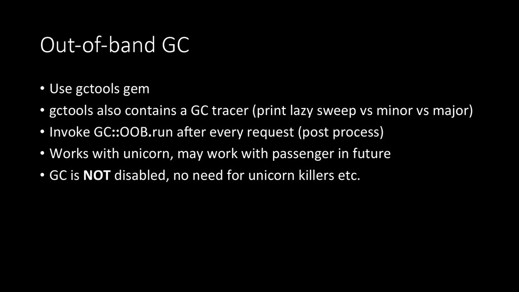 Out-­‐of-­‐band  GC