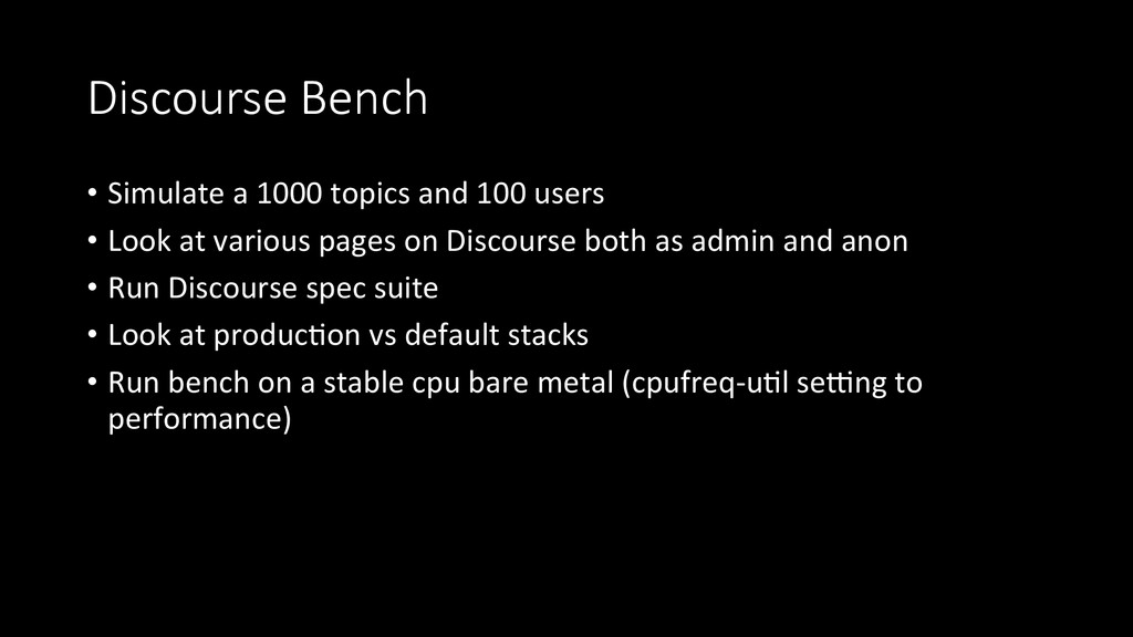 Discourse  Bench