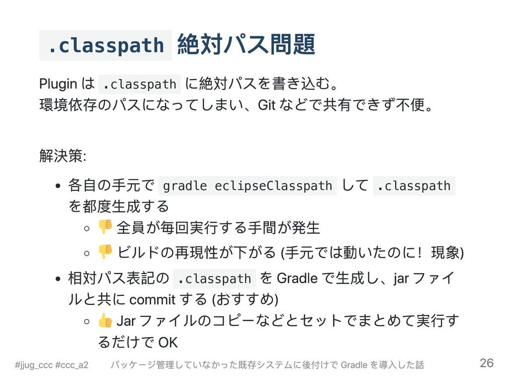 .classpath 絶対パス問題 Plugin は .classpath に絶対パスを書き込...