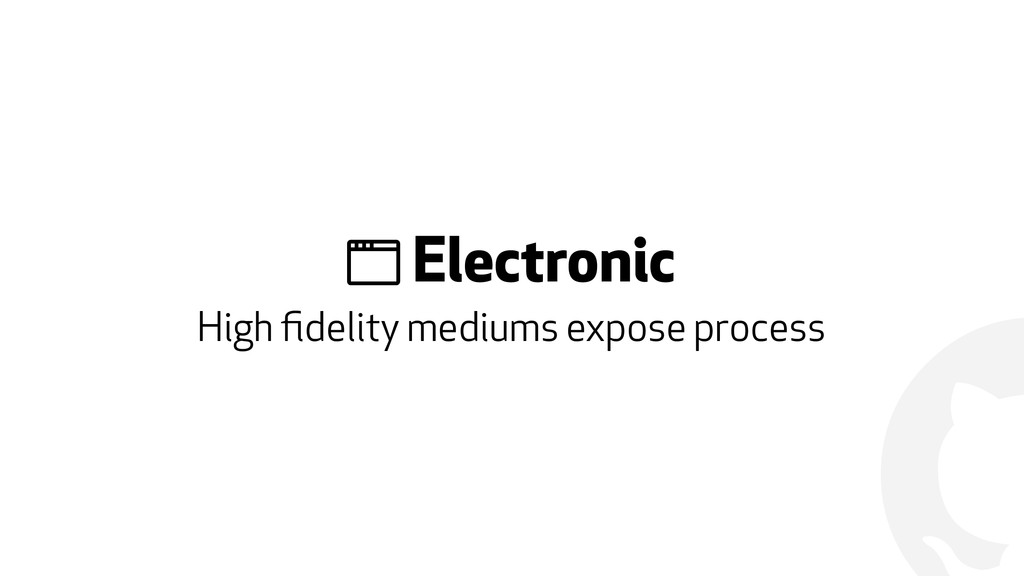 "! "" Electronic High fidelity mediums expose proc..."