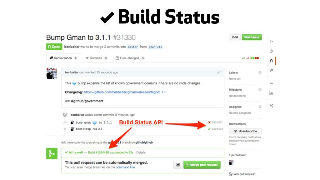 . Build Status