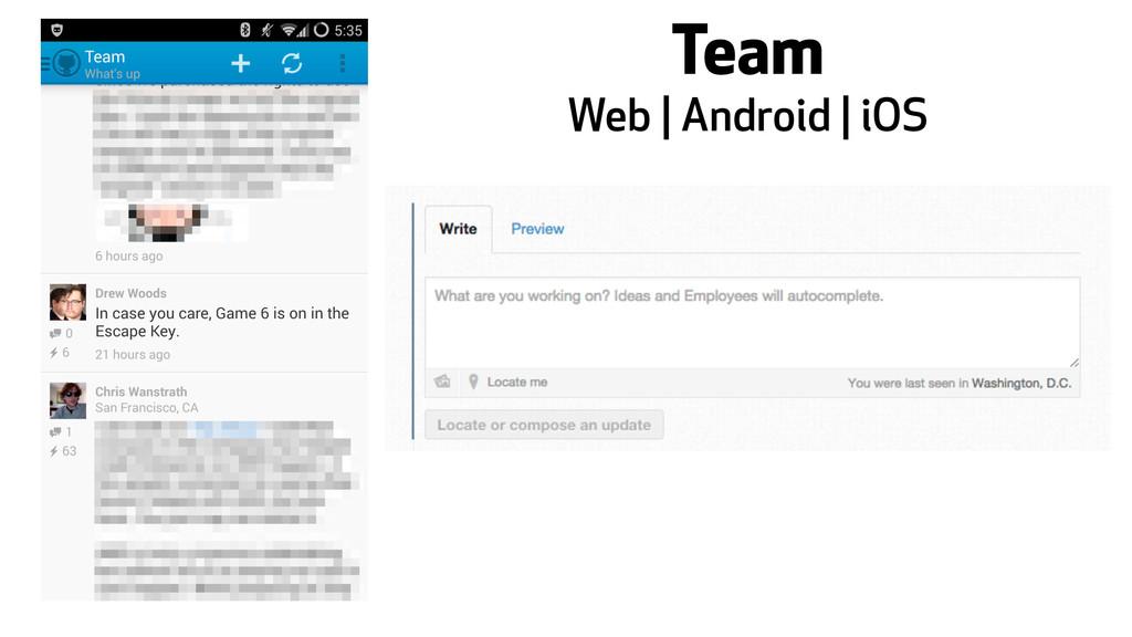 Team Web | Android | iOS