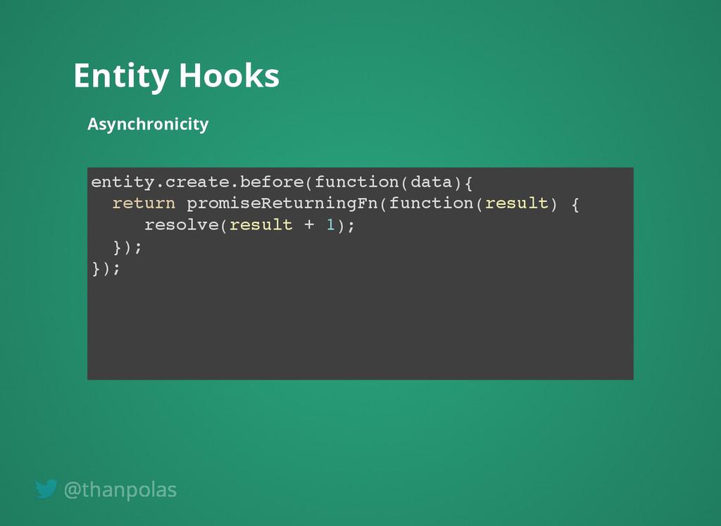 Entity Hooks Entity Hooks Asynchronicity Asynch...
