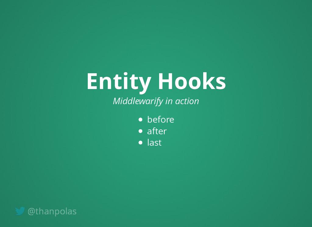 Entity Hooks Entity Hooks Middlewarify in actio...