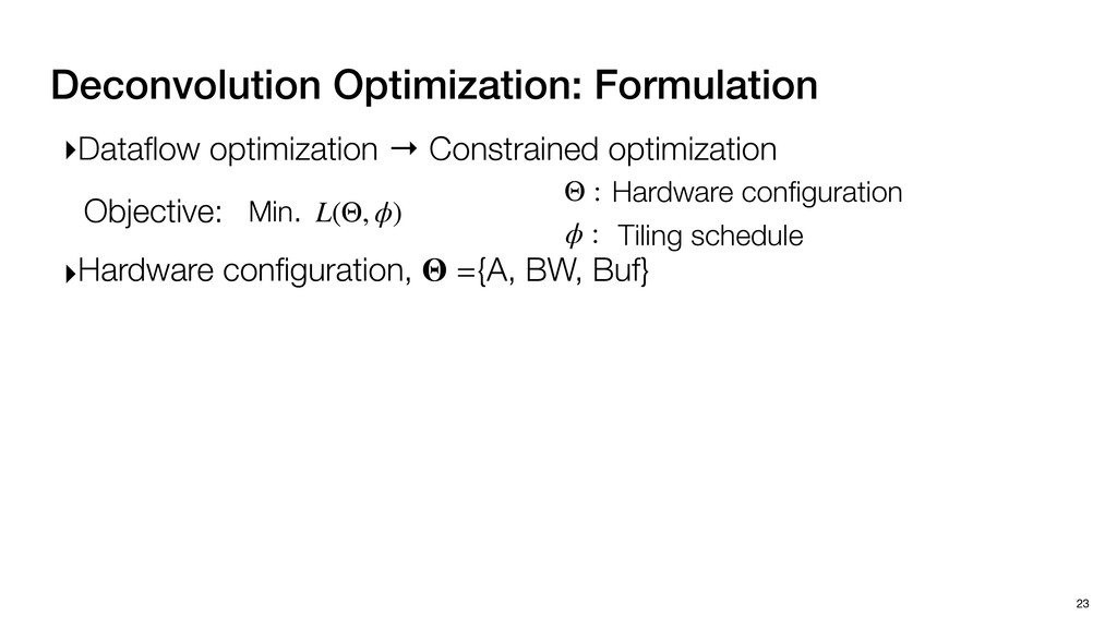 Deconvolution Optimization: Formulation 23 ▸Dat...