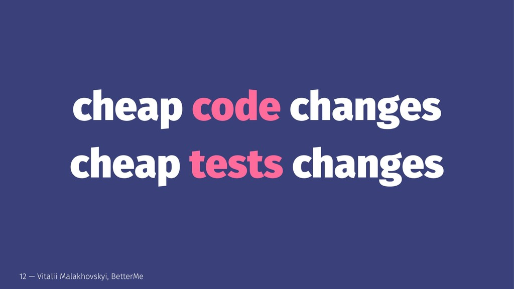 cheap code changes cheap tests changes 12 — Vit...