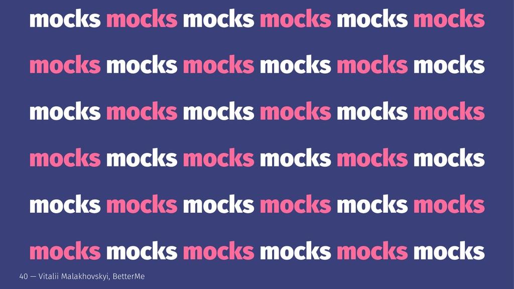 mocks mocks mocks mocks mocks mocks mocks mocks...