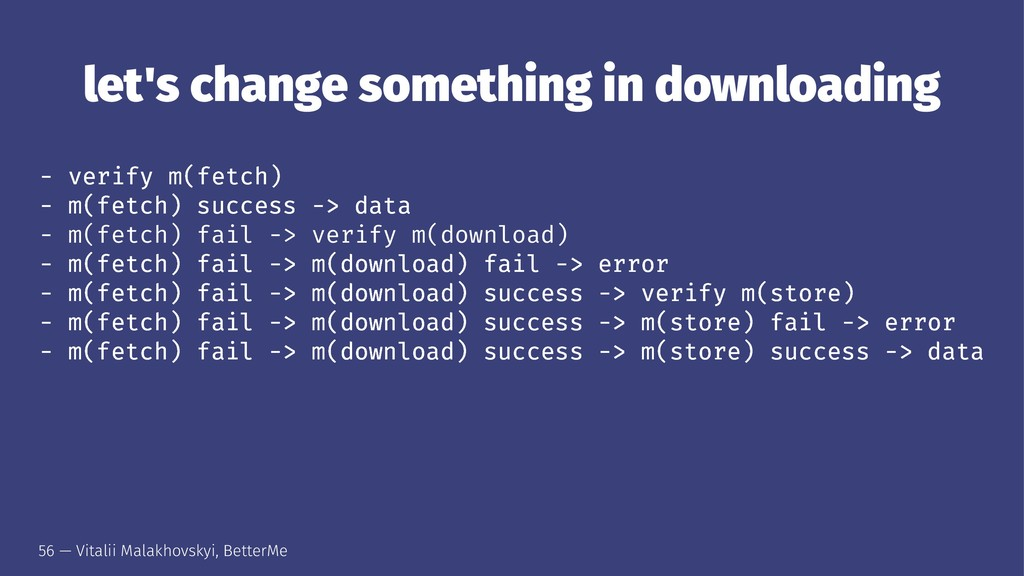 let's change something in downloading - verify ...