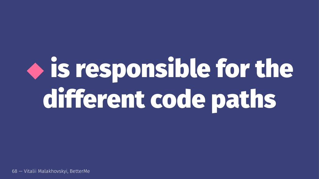 ⬥ is responsible for the different code paths 6...