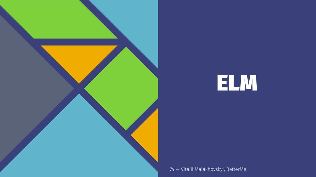 ELM 74 — Vitalii Malakhovskyi, BetterMe