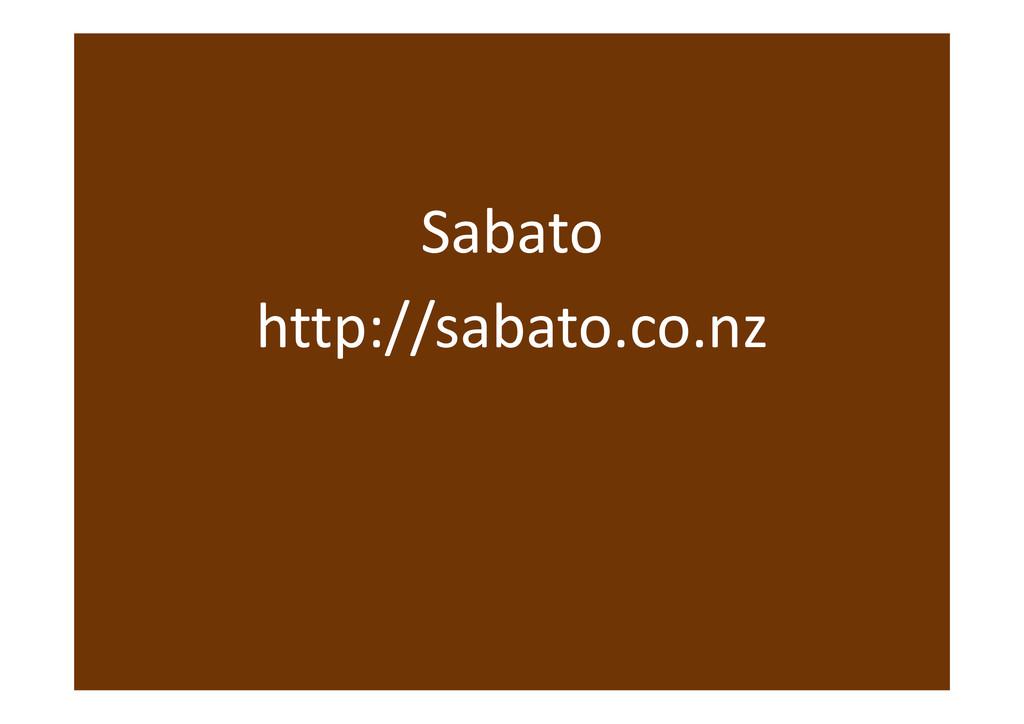 Sabato http://sabato.co.nz