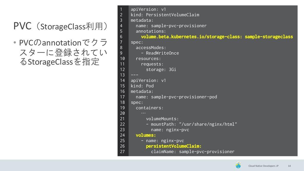 Cloud Native Developers JP PVC(StorageClass利用) ...