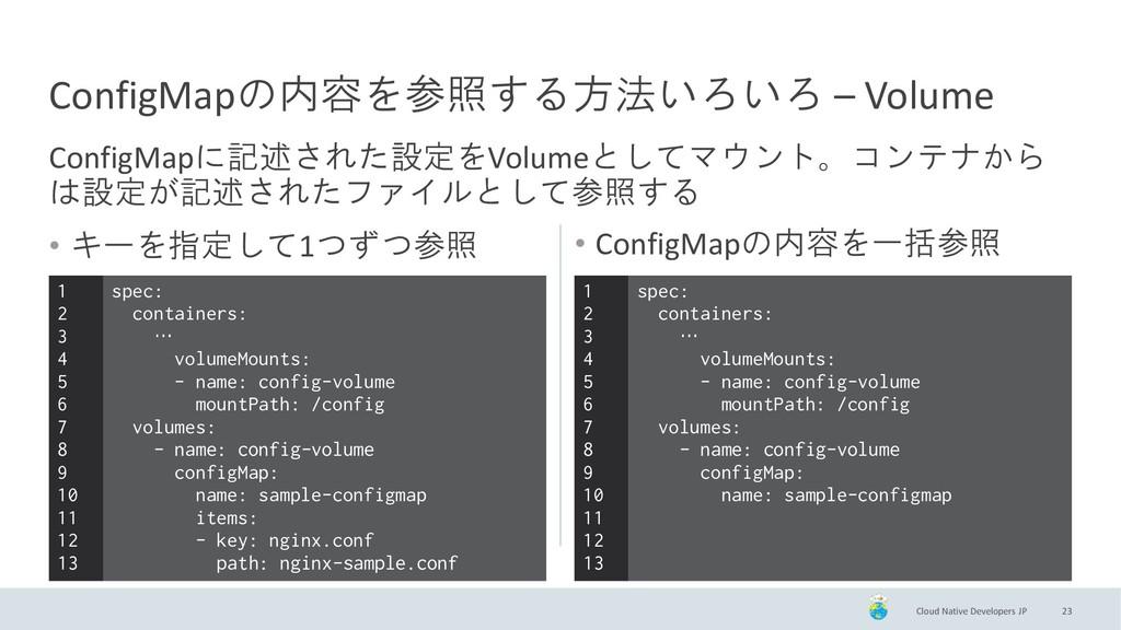 Cloud Native Developers JP • キーを指定して1つずつ参照 23 C...