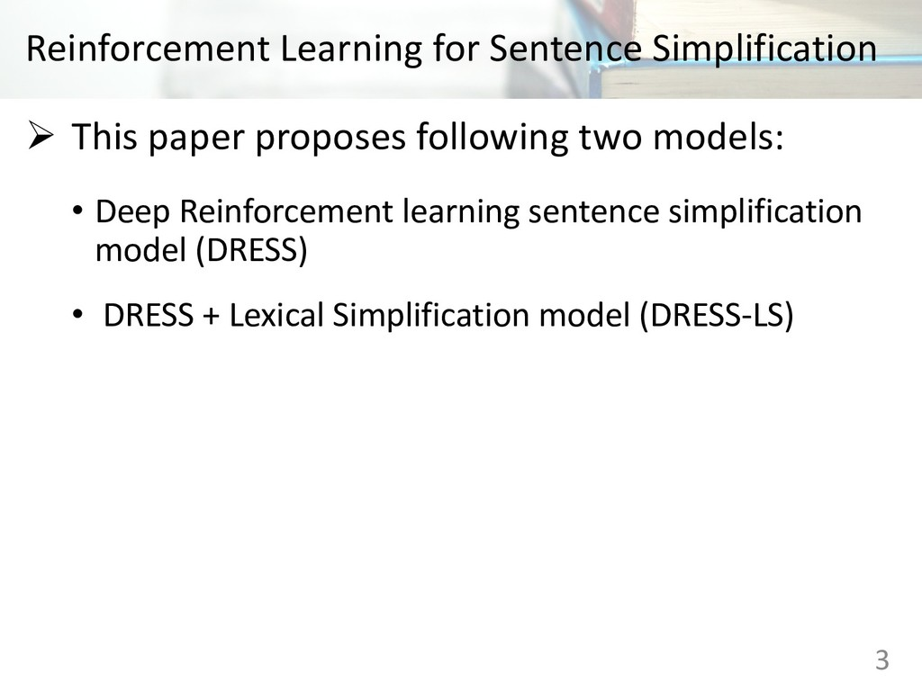 Reinforcement Learning for Sentence Simplificat...