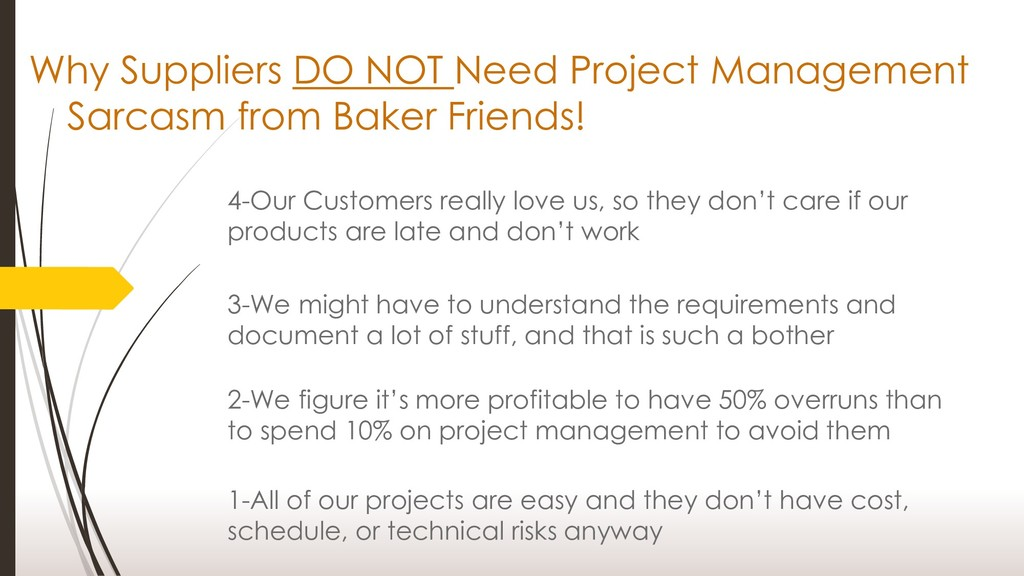 Why Suppliers DO NOT Need Project Management Sa...