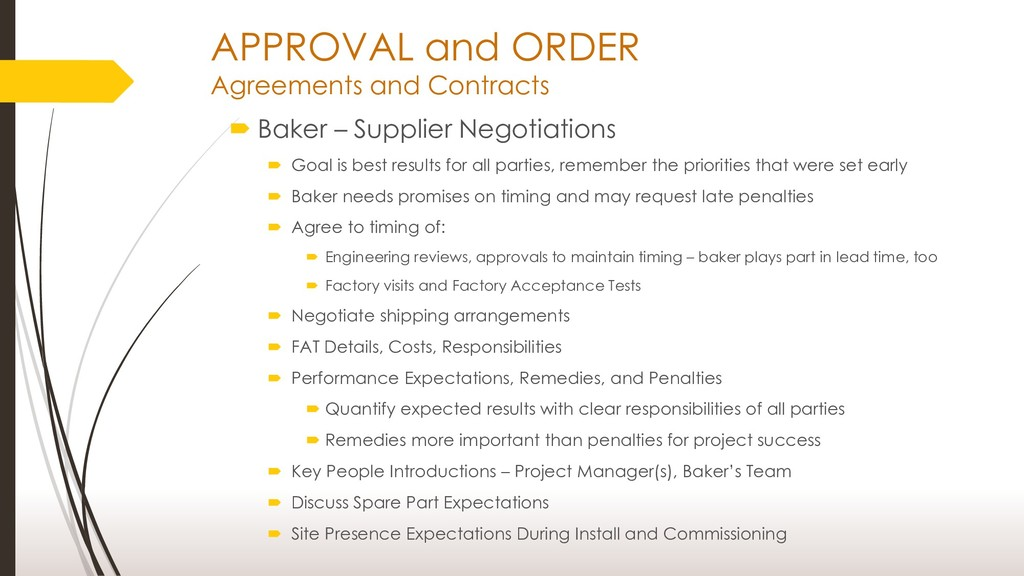 APPROVAL and ORDER Agreements and Contracts  B...