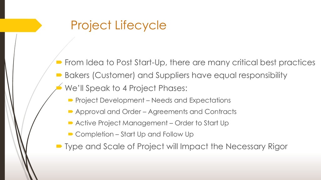 Project Lifecycle  From Idea to Post Start-Up,...