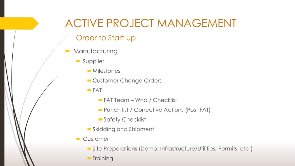ACTIVE PROJECT MANAGEMENT Order to Start Up  M...