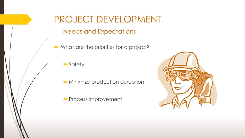 PROJECT DEVELOPMENT Needs and Expectations  Wh...