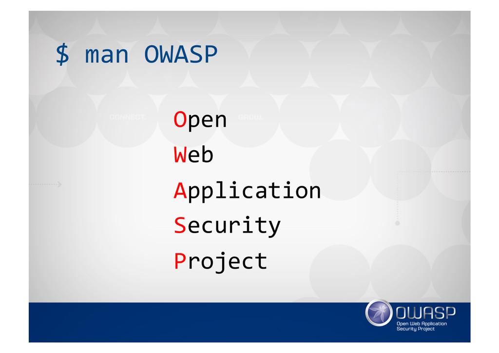 $ man OWASP  Open  Web  Applicat...