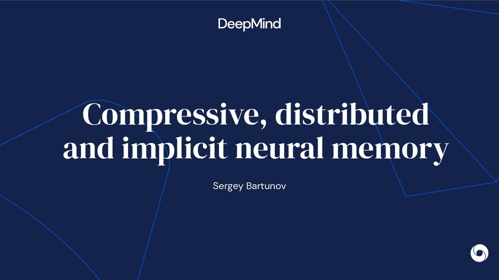 Compressive, distributed and implicit neural me...