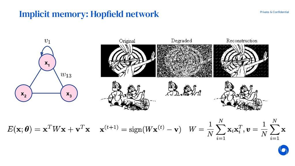 Private & Confidential x 2 Implicit memory: Hopf...