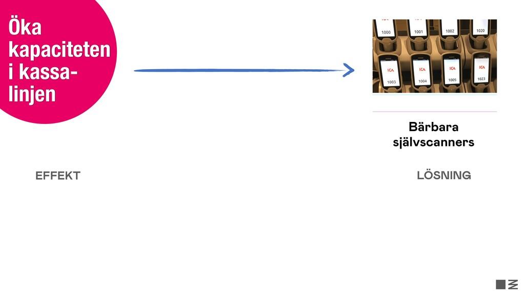 Öka kapaciteten i kassa- linjen Bärbara självsc...